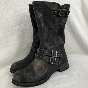 NEW DIRTY LAUNDRY TALIA  MOTORCYCLE BOOTS